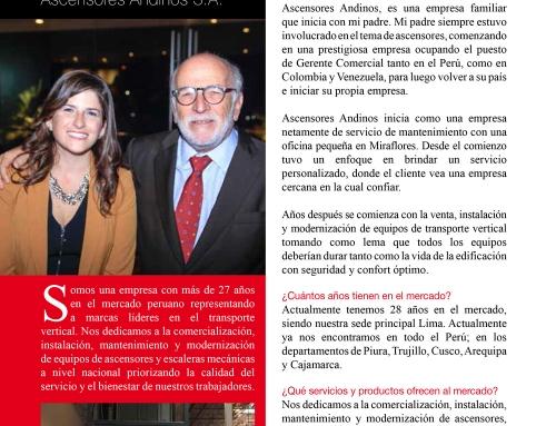 Entrevista a : Vanessa Larco, Gerente de Ventas de Ascensores Andinos